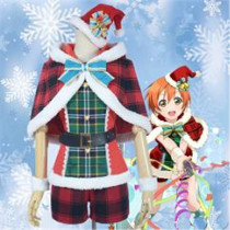 Love Live Rin Hoshizora Christmas Cosplay Costume