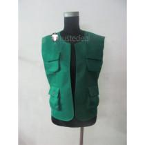 Pokemon Trainer Brock Green Vest Cosplay Costume1