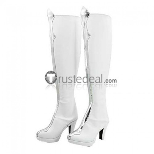 Code Geass Lelouch of the Rebellion C.C. Cosplay White Shoes Boots