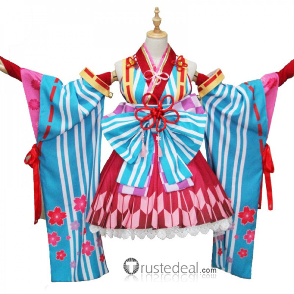 The Idolmaster Cinderella Girls Yoshino Yorita Kimono Cosplay Costume