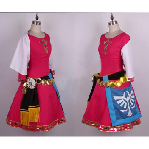 The Legend of Zelda Skyward Sword Princess Zelda Pink Cosplay Costume