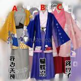 Kimetsu no Yaiba Demon Slayer Zenitsu Nezuko Shirobu Kimono Fanart Cosplay Costumes