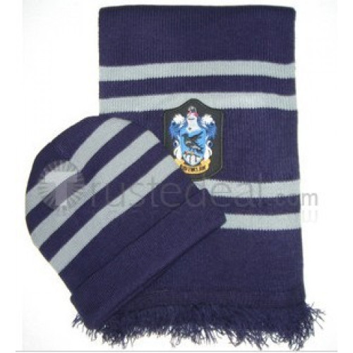 Harry Potter Ravenclaw Hat and Scarf Set