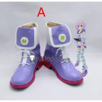 Hyperdimension Neptunia Planeptune Neptune Purple Cosplay Shoes