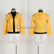 Mobile Suit Gundam AGE Flit Asuno Yellow White Cosplay Costume