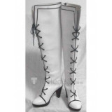 Axis powers Hetalia Female Genderbend Prussia White Cosplay Boots Shoes