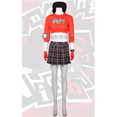 Persona 5 Dancing in Starlight Ann Takamaki Red Cosplay Costume
