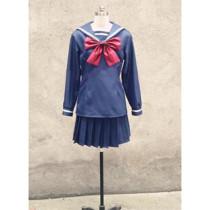 Zetsuen no Tempest Blast of Tempest Aika Fuwa Winter School Uniform Cosplay Costume