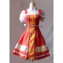 Tekken Alisa Bosconovitch Red Dress Cosplay Costume