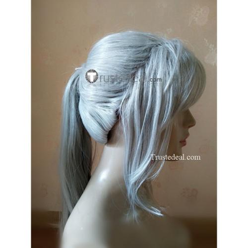 Bloodborne Lady Maria Grey Ponytail Cosplay Wig