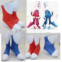 Pokemon Gijinka Latios Latias Blue and Red Cosplay Boots Shoes