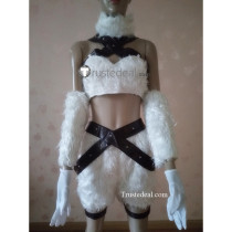 League of Legends Kitty Cat Katarina Du Couteau White Cosplay Costume