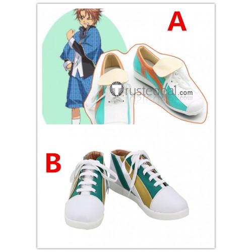 Shugo Chara Kukai Souma Blue Cosplay Shoes