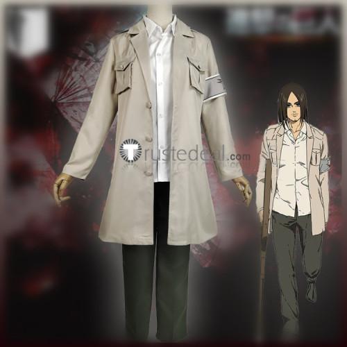 Attack on Titan Shingeki no Kyojin Final Season Eren Jaeger Uniform Cosplay Costume