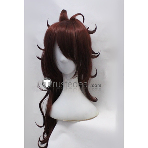 Dragon Ball Z Android 21 Brown Red Auburn Cosplay Wig