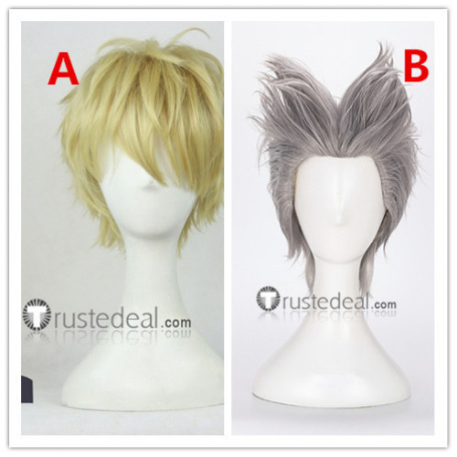 One Punch Man Genos Garou Blonde Grey Cosplay Wigs