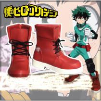 Boku no Hero Academia Deku Izuku Midoriya Red Cosplay Shoes Boots