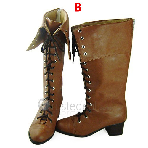 Devil May Cry 4 Lady Brown Cosplay Boots Shoes