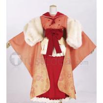 Pokemon Gijinka Flareon Red Kimono Cosplay Costume