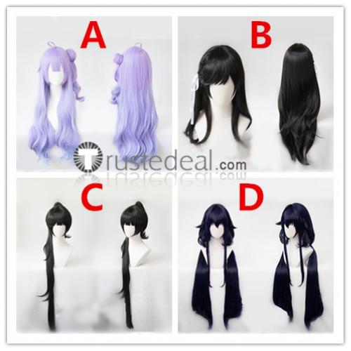 Azur Lane Unicorn Atago Takao Azuma Black Blue Purple Cosplay Wigs