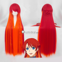 Re Creators Selesia Upitiria Long Red Orange Cosplay Wig