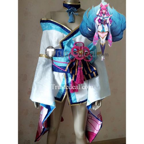 League of Legends LOL Spirit Blossom Ahri Kimono Cosplay Costume