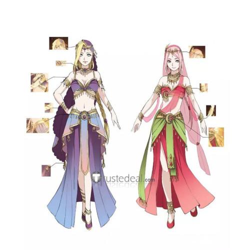 Naruto Shippuden Sakura Haruno Ino Yamanaka Doujin Persian Style Cosplay Costume