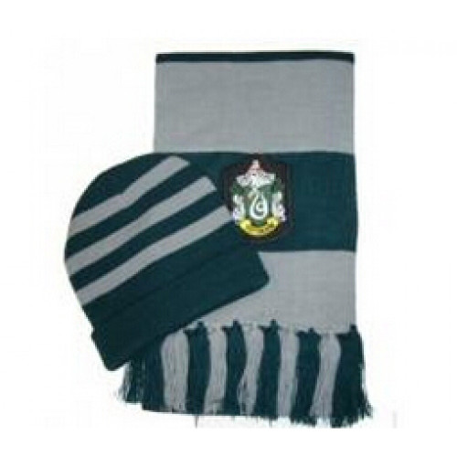 Harry Potter Slytherin Cosplay Hat and Scarf Set
