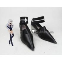 Hyperdimension Neptunia Goddess Noire Black Heart Black Cosplay Shoes