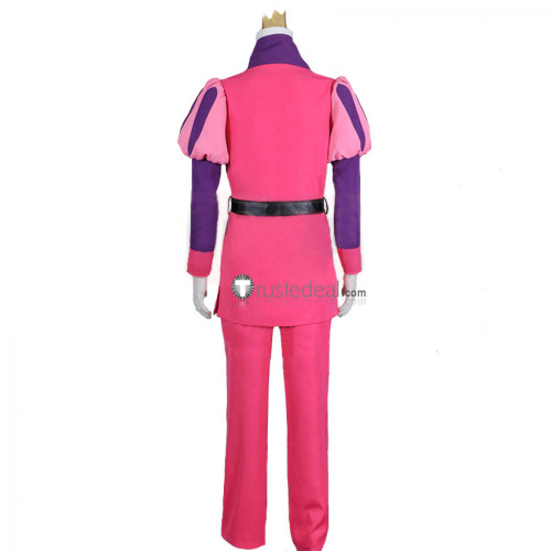 Adventure Time Prince Gumball Pink Cosplay Costume