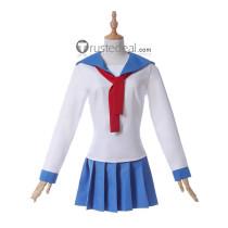 Pop Team Epic Poputepipikku Popuko Pipimi Blue White School Uniform Cosplay Costume