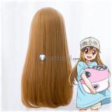Cells at Work Hataraku Saibou Platelet Long Brown Cosplay Wig