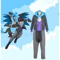 Pokemon XY Alain Gray Cosplay Costume