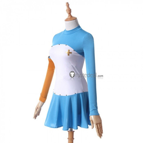 The Seven Deadly Sins: Revival of The Commandments Elizabeth Liones Blue White Cosplay Costume