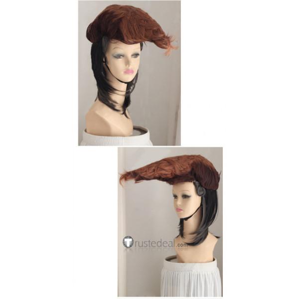Danganronpa Trigger Happy Havoc Mondo Oowada Black Brown Cosplay Wig