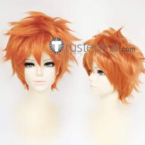 Haikyuu Karasuno High School Shoyo Hinata Orange Cosplay Wig
