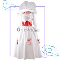 Disney Film Mary Poppins White Dress Cosplay Costume