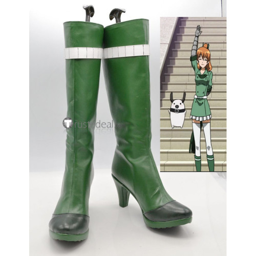 Akame Ga Kill Seryu Ubiquitous Green Cosplay Shoes Boots