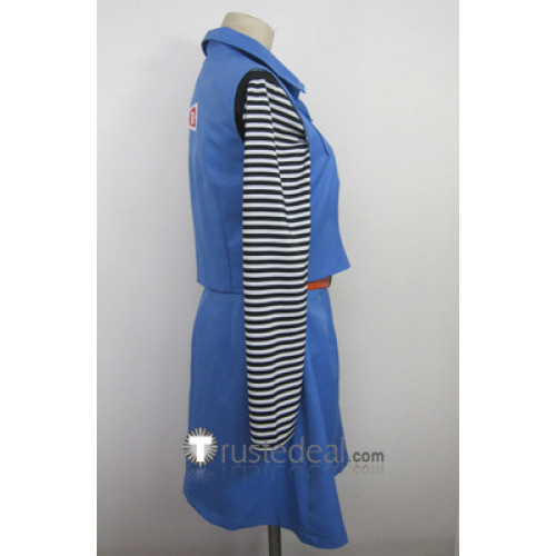 Dragon Ball Z Android 18 Blue Cosplay Costume