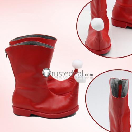 Shugo Chara Rima Mashiro Clown Drop Red Cosplay Boots Shoes