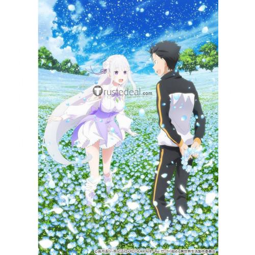 Re Zero Memory Snow OVA Emilia Cosplay Costume 1