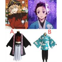 Kimetsu no Yaiba Demon Slayer Douma Tanjiro Kamado Kimono Cosplay Costumes