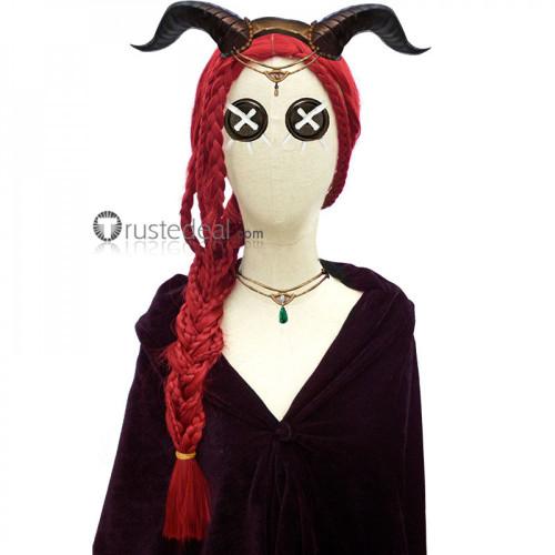 Identity V Priestess Fiona Gilman Red Cosplay Wig