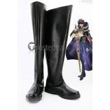 Code Geass Suzaku Kururugi Knight of Seven Black Cosplay Shoes Boots