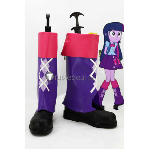My Little Pony Equestria Girls Twilight Sparkle Purple Cosplay Boots Shoes2