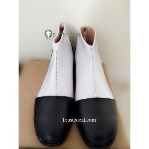 Jojo's Bizarre Adventure Yoshikage Kira White Black Cosplay Shoes Boots