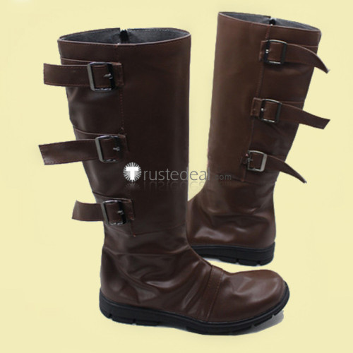 Assassin's Creed Altair Ibn-La'Ahad Brown Cosplay Boots Shoes