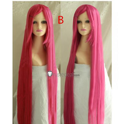 Rosario and Vampire Moka Akashiya Pink Cosplay Wigs