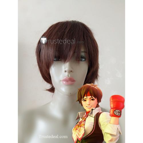 Street Fighter SAKURA Short Brown Cosplay Wig