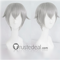 Touken Ranbu Hotarumaru Silver Gray Cosplay Wig